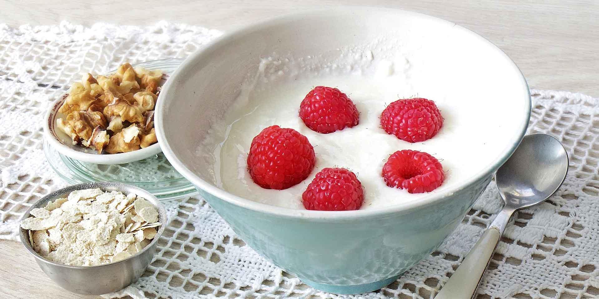 Nicht auf leeren Magen essen: Joghurt